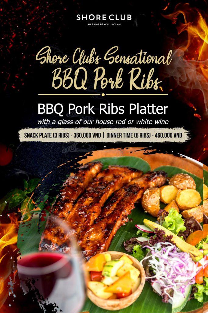 BBQ Pork Ribs dinner special