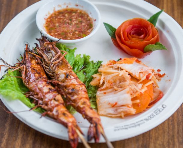 Grilled Shrimp with Coconut Sauce - Restaurant Menu - The DeckHouse - An Bang Beach Food & Music Festival