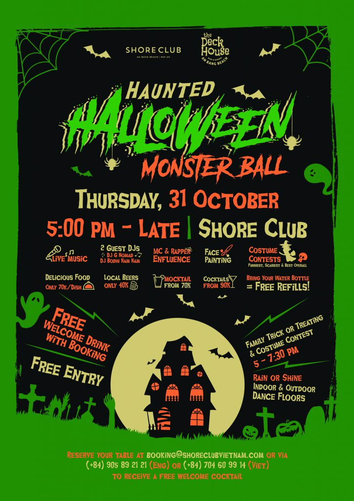 Haunted Halloween Monster Ball flyer for 31 October at Shore Club