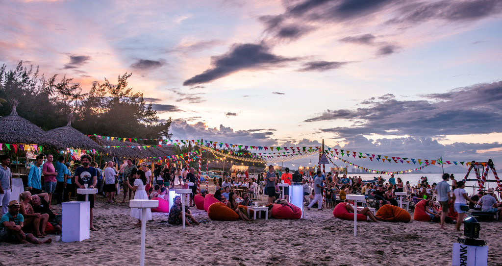 Sunset over last year's An Bang Beach Food & Music Festival